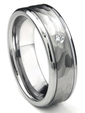 021fe8363 Product Image Tungsten Carbide Diamond Hammer Finish Newport Men's Wedding  Band Ring Sz 10.0. Titanium Kay