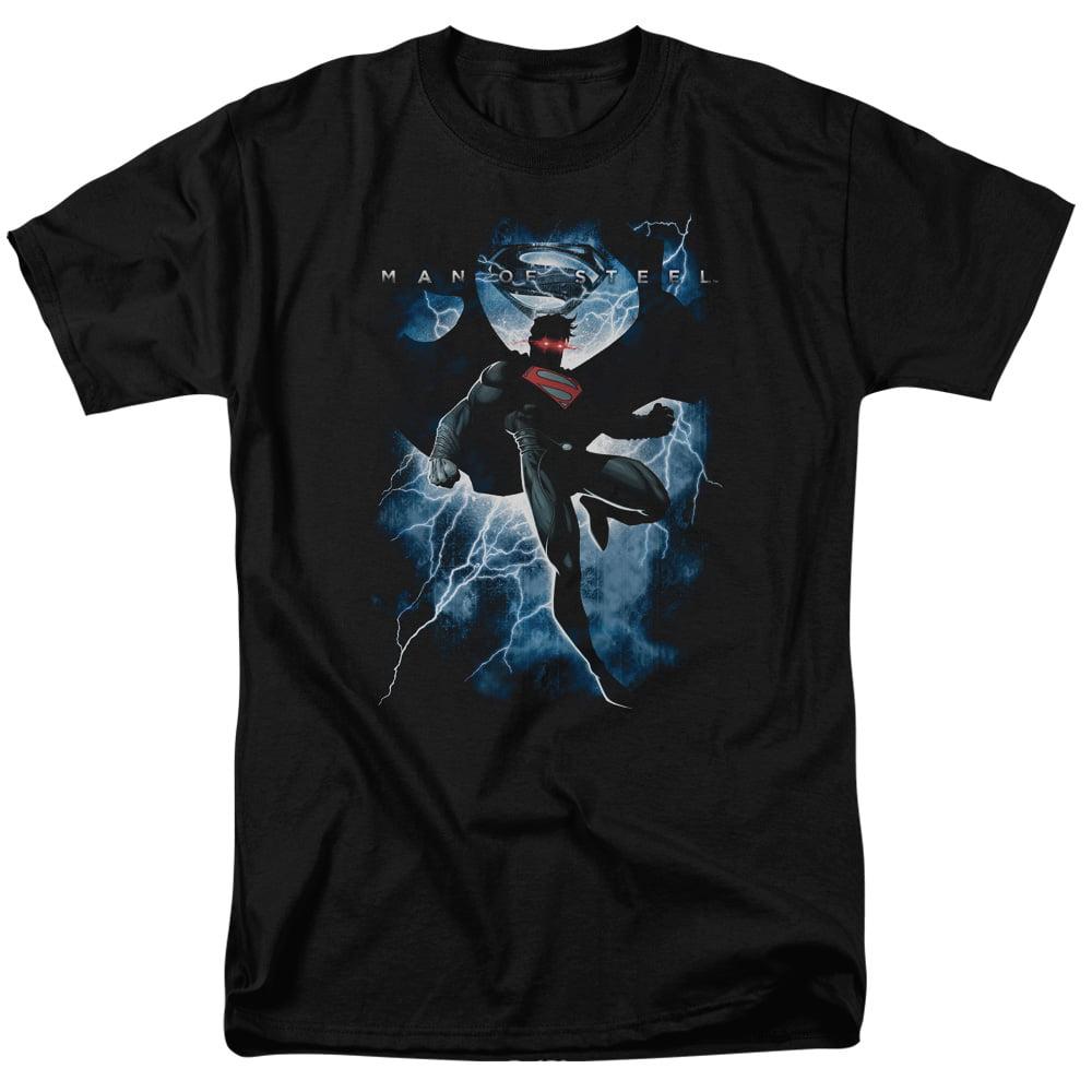 Man of Steel Superman Lightning Mens Short Sleeve Shirt