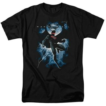 MAN OF STEEL/STEEL LIGHTNING-S/S ADULT 18/1 - BLACK - 4X