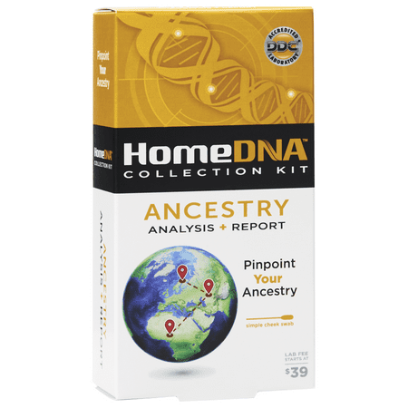 HomeDNA™ Ancestry Test, Collection Kit Only: Starter & Advanced Mail In At-Home DNA Testing (Lab Fee Not