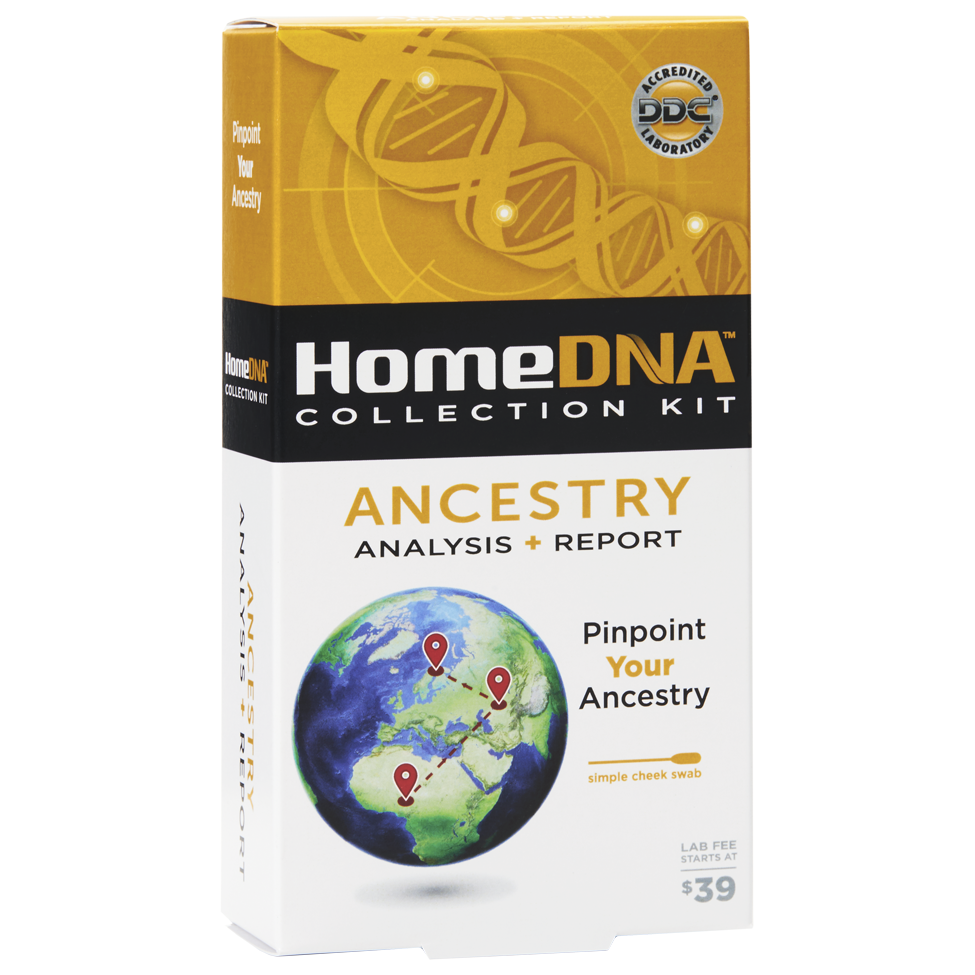 HomeDNA™ Ancestry Test Kit: Starter & Advanced At-Home DNA Testing Options