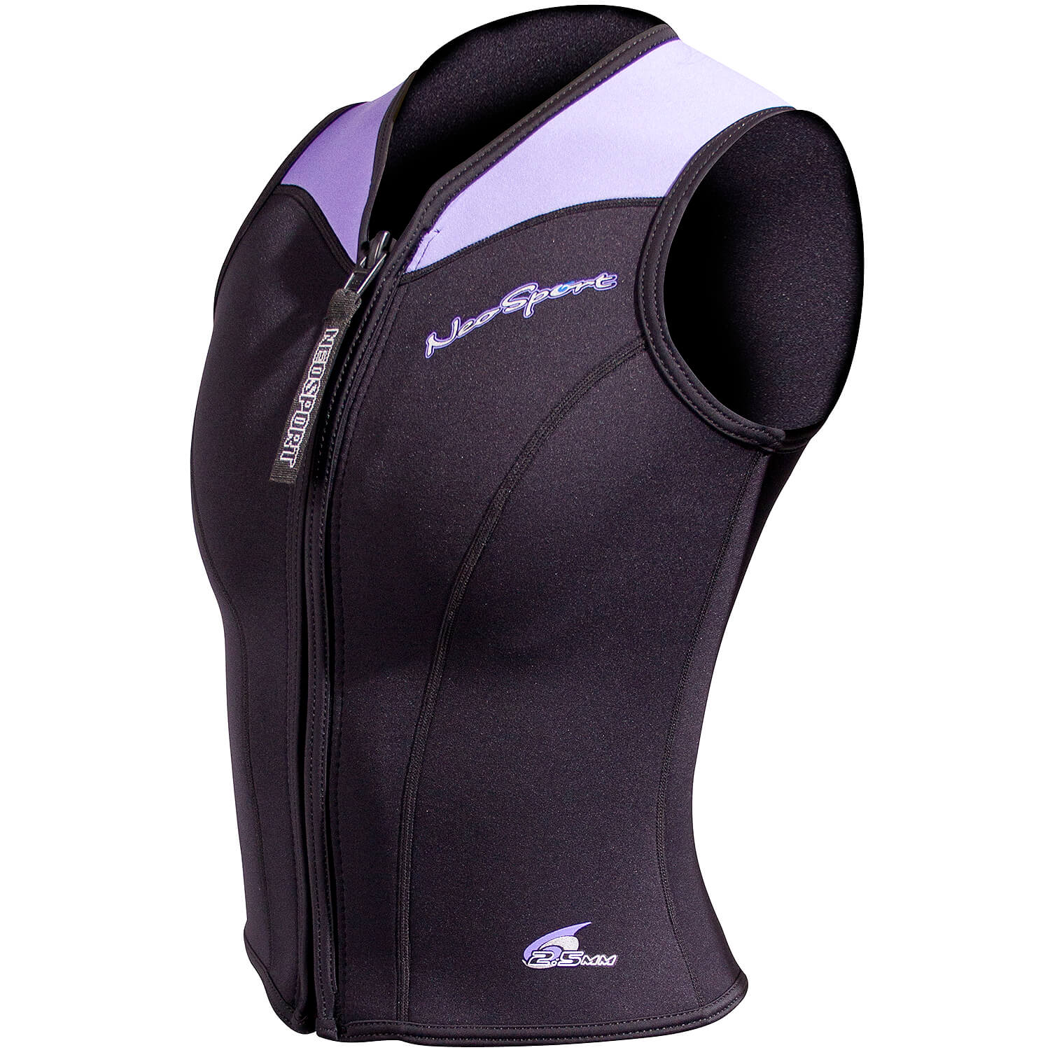 Neosport 2.5mm Zip Front Women/'s Wetsuit Sport Vest Sleeveless Neporene Shirt