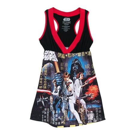 Star Wars Episode IV Princess Leia Movie Poster Juniors Costume Skater Dress - Iv Expo Halloween