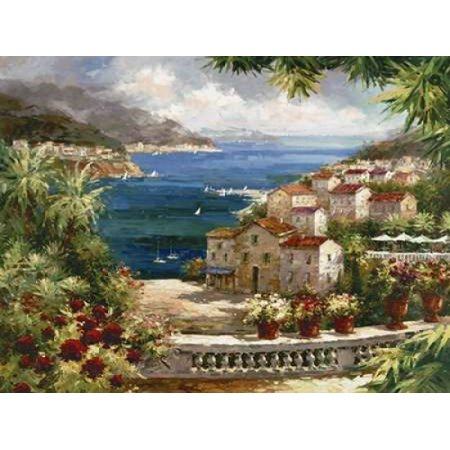 Harbor Vista Stretched Canvas - Peter Bell (11 x 14)