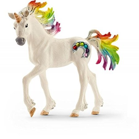 Schleich North America Rainbow Unicorn Foal Toy Figure