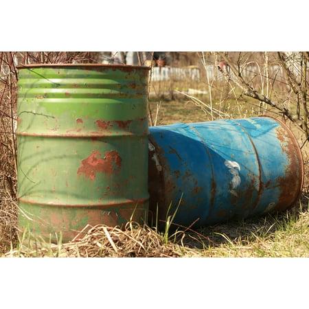 LAMINATED POSTER Barrel Tank Fossil Fuel Rusty Petrol Oil Poster Print 24 x 36