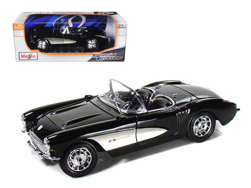 1957 Chevrolet Corvette Black 1 18 Diecast Model Car by Maisto by Diecast Dropshipper