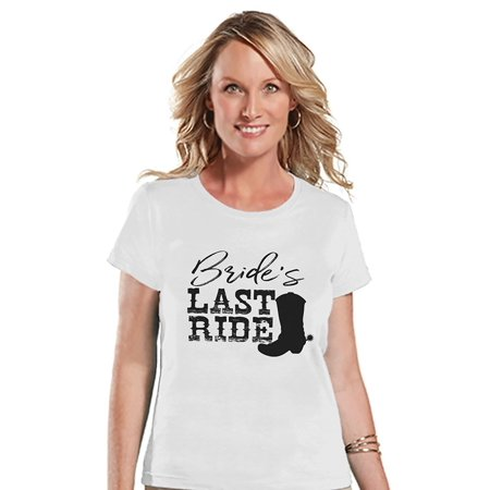 - 7 ate 9 Apparel Women's Bride's Last Ride T-shirt - Small