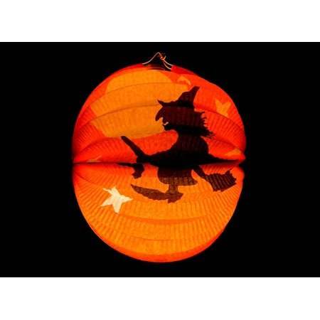 Halloween Season Of The Witch Poster (LAMINATED POSTER Lantern Autumn Halloween Orange The Witch Poster Print 24 x)