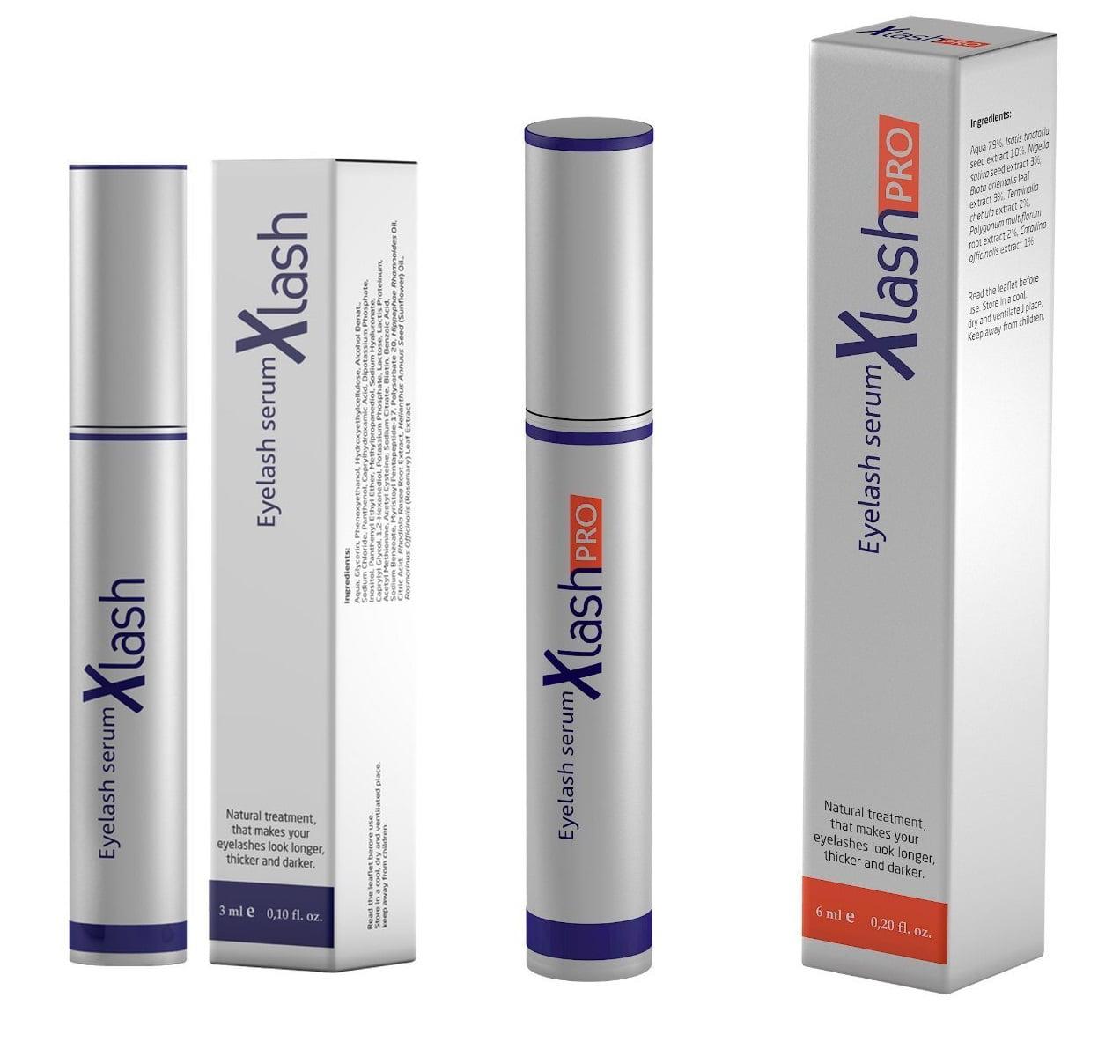 Xlash Eyelash Serum 3 ml + Xlash Pro Eyelash Serum 6ml - Walmart.com