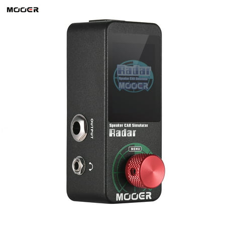 MOOER Speaker Cab Cabinet Simulator Guitar Effect Pedal 30 Speaker Cab Models 11 Mic Models 36 User Presets