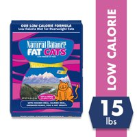 Natural Balance Fat Cats Chicken Meal, Salmon Meal, Garbanzo Beans, Peas & Oat Groats Dry Cat Food, 15 Pounds