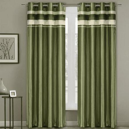 Milan Blackout Multilayer Energy Saving Grommet Single Curtain Panels 54 X 108 Panel Sage