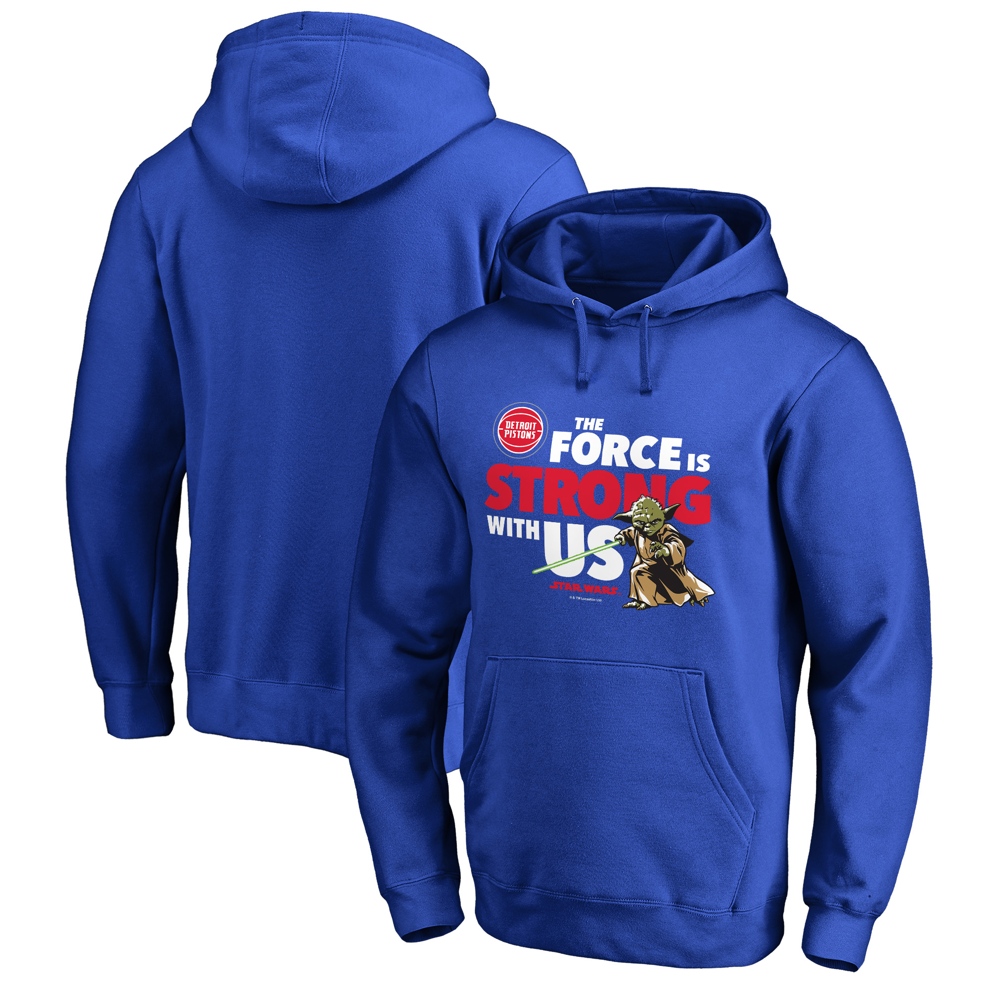 Detroit Pistons Fanatics Branded Star Wars Jedi Strong Pullover Hoodie - Royal