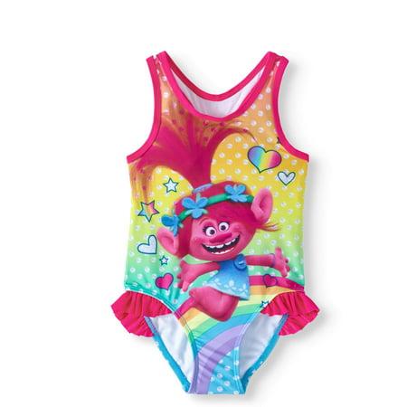 668d79df77045 Trolls - Toddler Girl One Piece Swimsuit - Walmart.com