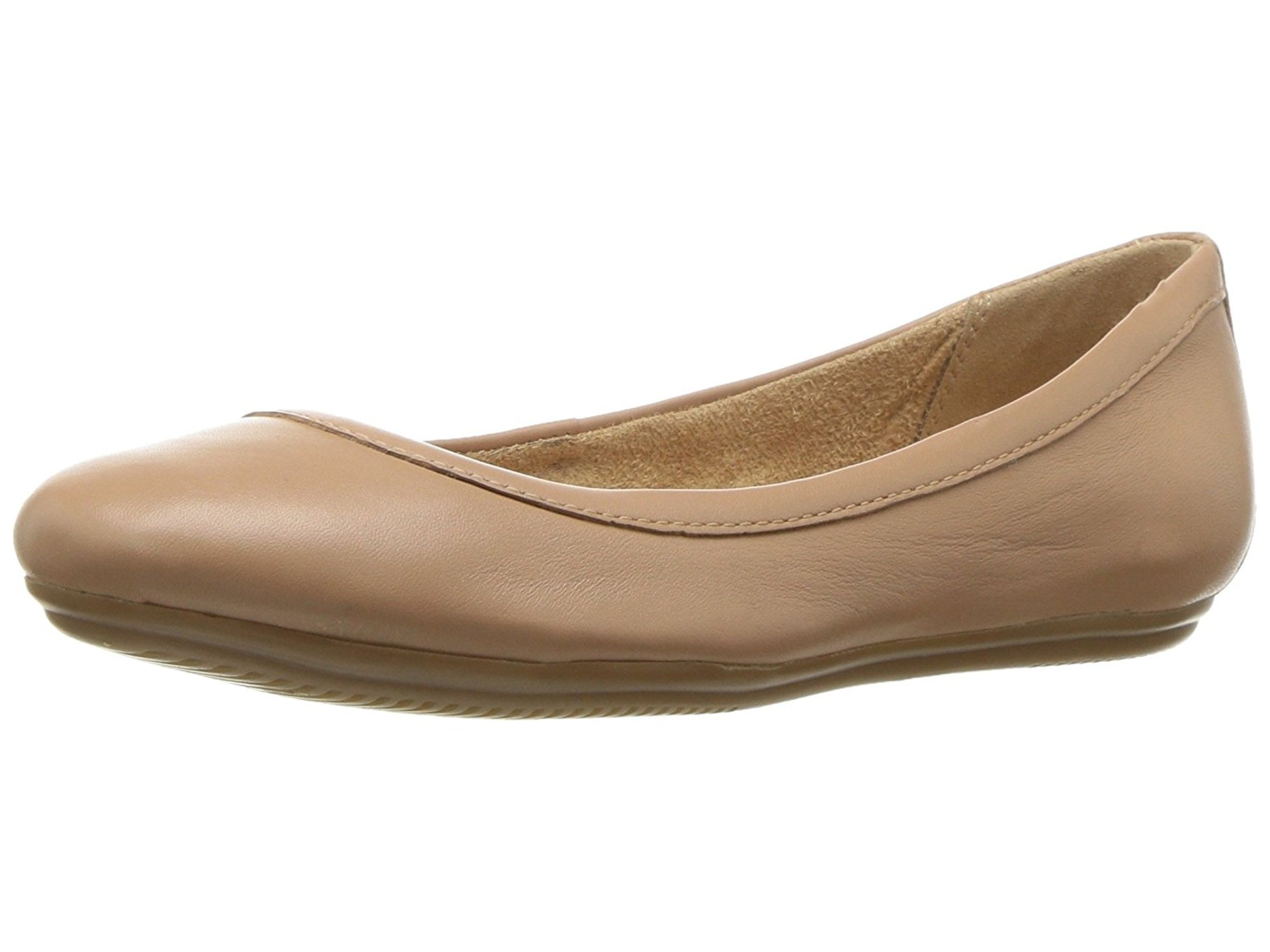 Naturalizer Womens Brittany Leather Closed Toe Slide Flats by Naturalizer