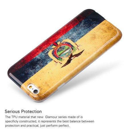Insten Patriotic Vintage Flag Series Imd TPU Rubber Skin Gel Case For Apple iPhone 6 / 6s - Ecuador - image 2 de 6