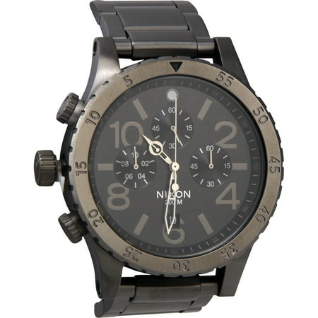 - 48-20 Chrono A486632 Gunmetal Dial Men's Stainless Steel Watch