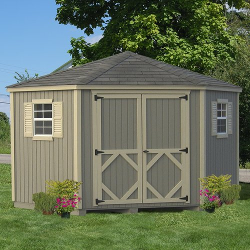 Little Cottage Company Classic 10 ft. W x 10 ft. D Wooden Storage Shed