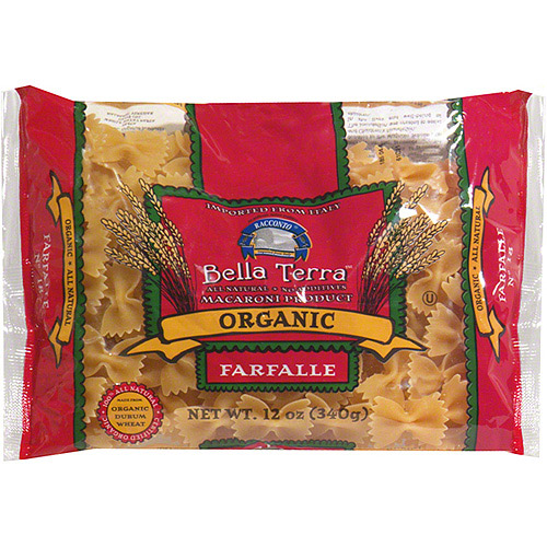 Bella Terra Organic Farfalle Pasta, 12 oz (Pack of 12)