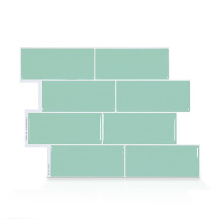 Smart Tiles 11.56 in x 8.38 in Peel and Stick Self-Adhesive Mosaic Backsplash Wall Tile - Metro Lucas (4-Pack)
