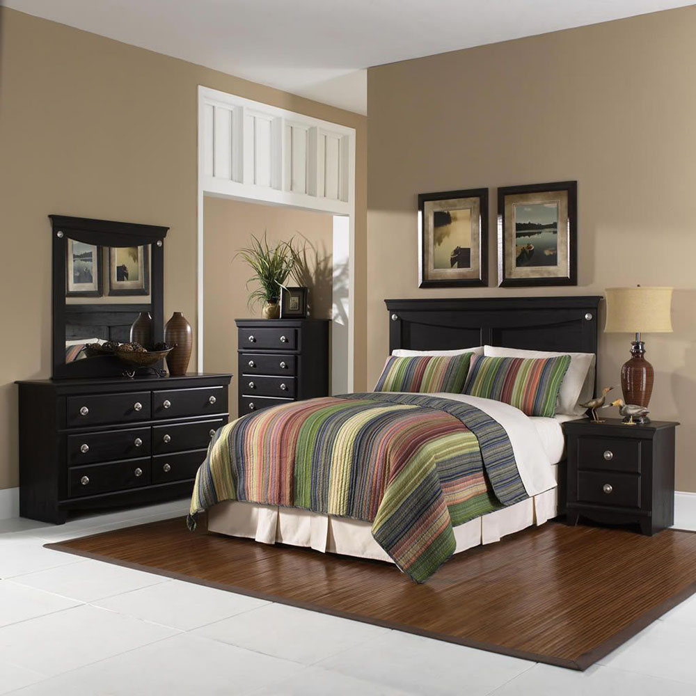 Cambridge Southampton 5 Piece Bedroom Suite: Queen Bed Headboard, Dresser, Mirror, Chest, Nightstand