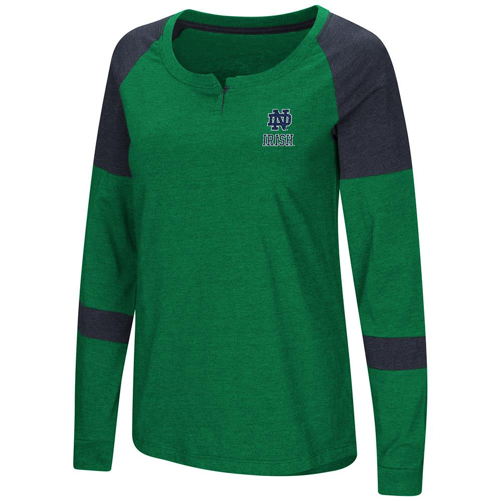 Womens Notre Dame Fighting Irish Long Sleeve Raglan Tee Shirt - M