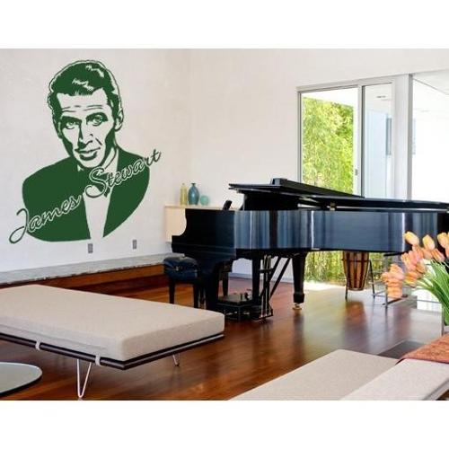 James Stewart Wall Decal Vinyl Art Home Decor Brown 24in x 27in