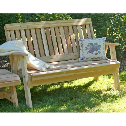 Creekvine Designs Countryside Cedar Garden Bench