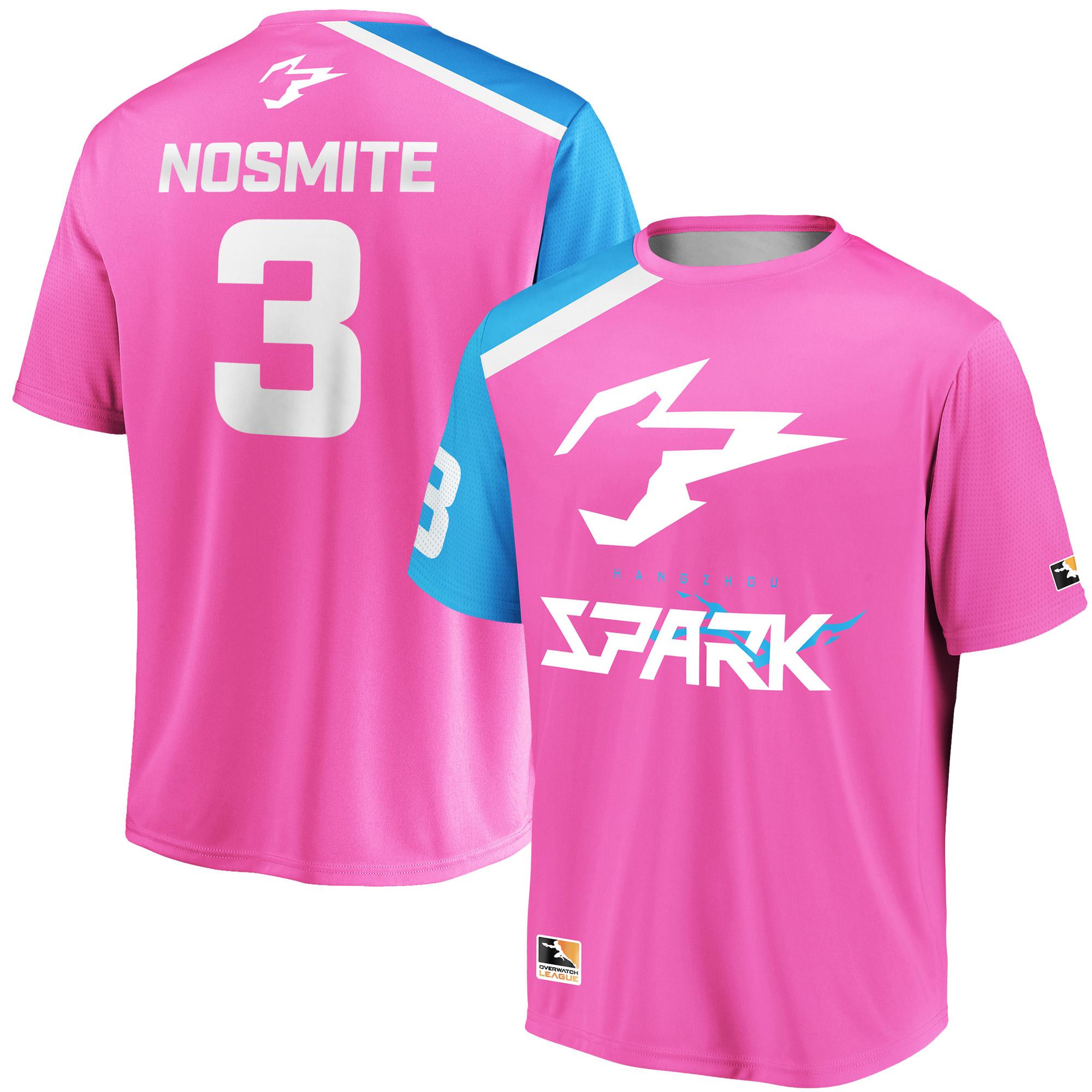 NoSmite Hangzhou Spark Overwatch League Replica Home Jersey - Pink