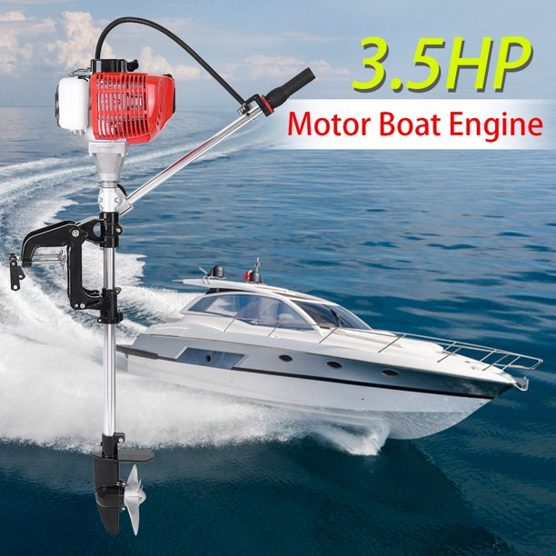 New 2 Stroke 3.5HP Heavy Duty Outboard Motor Boat Engine Air cooling System