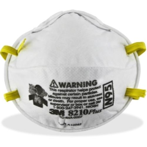 3m 8210plus N95 Particulate Respirator Standardfoam 20  Box White by 3M