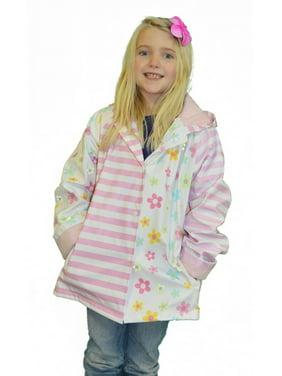 Girls Pastel Posies Rain Coat 5