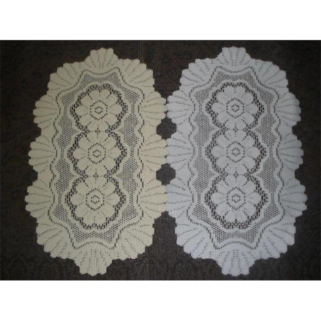 Tapestry Trading 558W1616 16 x 16 in. European Lace Doily, White