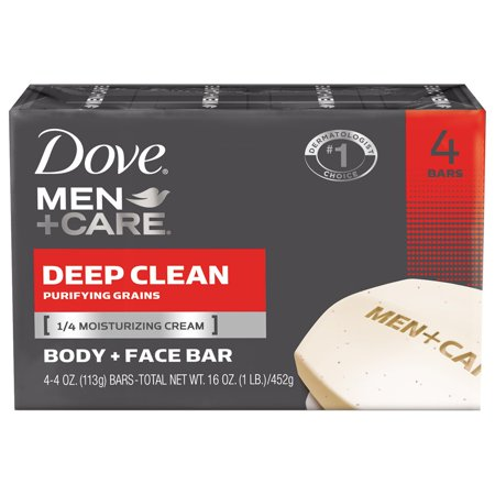 Men - Care Deep Clean Body -amp- Face Bar 4 Oz 4 Ct