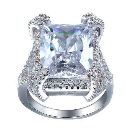 Genevieve Exquisite 12 Carat Radiant Cut Ring