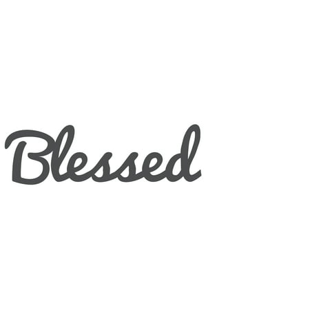 Blessed Distressed & Painted Cutout Vintage Ready To Hang Wall Monogram Home Decor (Plastic)