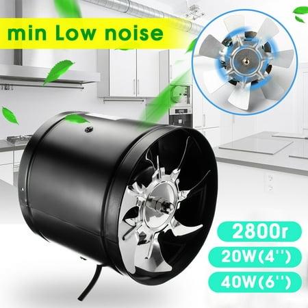 4 Inch/6 Inch Booster Fan Inline Duct Vent Blower Fan Exhaust Fan
