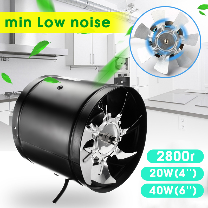 4 Inch/6 Inch Booster Fan Inline Duct Vent Blower Fan Exhaust Fan Tools