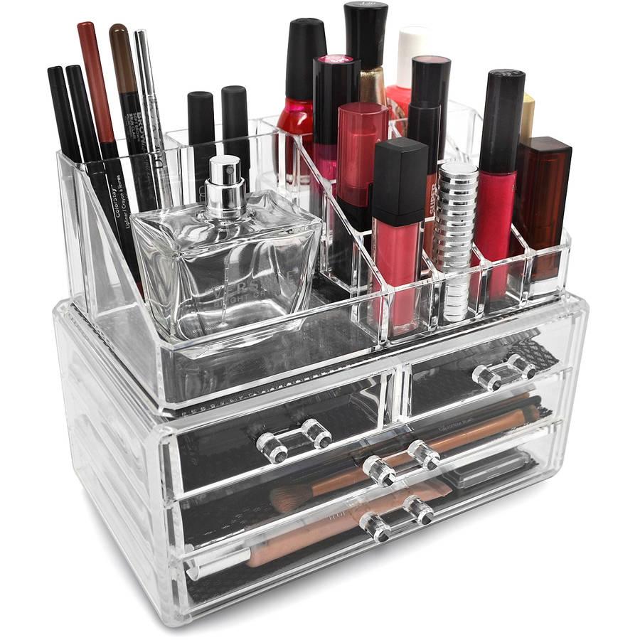 Makeup Organizer Luxury Cosmetics Acrylic Clear Case Storage Insert Holder Box