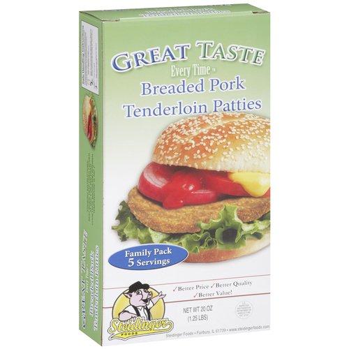 Great Taste Every Time Breaded Pork Tenderloin Patties, 20 oz