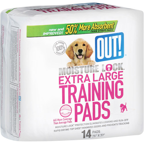 OUT! Moisture Lock Extra-Large Training Pads, 14 count