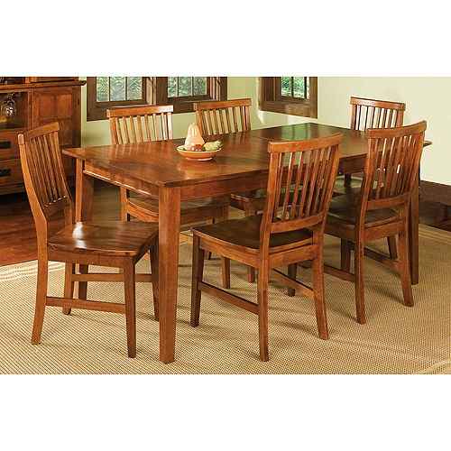 home styles arts & crafts 7 piece dining set, cottage oak