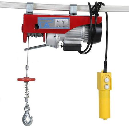 - Yosoo 100/200kg Electric Cable Hoist Lifting Wire Hanging Crane US Plug 110V,  Electric Cable Hoist, Electric Crane