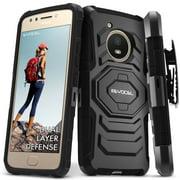 Motorola Moto E4 Case, Evocel [Belt Clip Holster] [Kickstand] [Dual Layer] New Generation Phone Case for Motorola Moto E4, Black