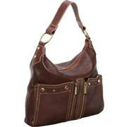Caroline Shoulder Leather Bag  - Chestnut Brown