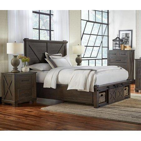 Rustic Queen Rotating Storage Bedroom Set 3Pcs SUVCL5092 A-America Sun  Valley