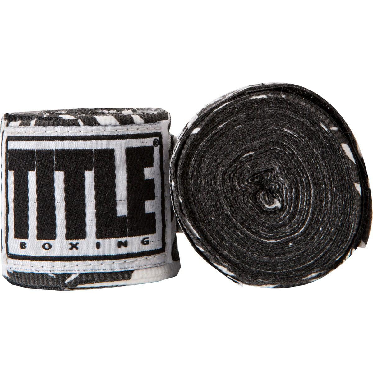 """Title Boxing 180"""" Semi Elastic Mexican Handwraps - Zebra"""