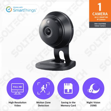SNH-C6417BN Black - Samsung Wisenet SmartCam 1080p Full HD Wi-Fi IP Camera
