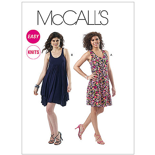 McCall's Pattern Misses' Dresses in 2 Lengths, ZZ (L, XL, XXL)
